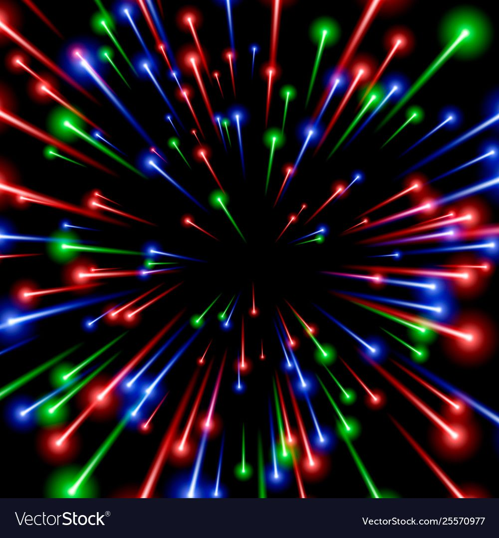 Rgb space art color ray energy black background Vector