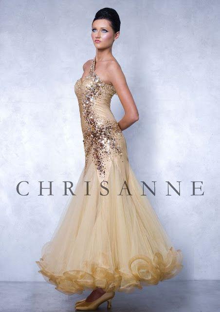 49889482c Chrisanne Gold Ballroom Competition Dress | Ballroom Dance ...