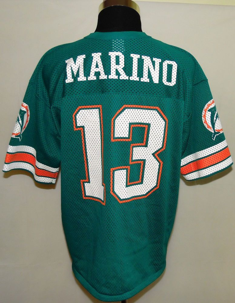 ae207ea3a Miami Dolphins Dan Marino NFL Vintage Logo 7 Football Jersey Size L (46-48)  USA  Logo7  MiamiDolphins