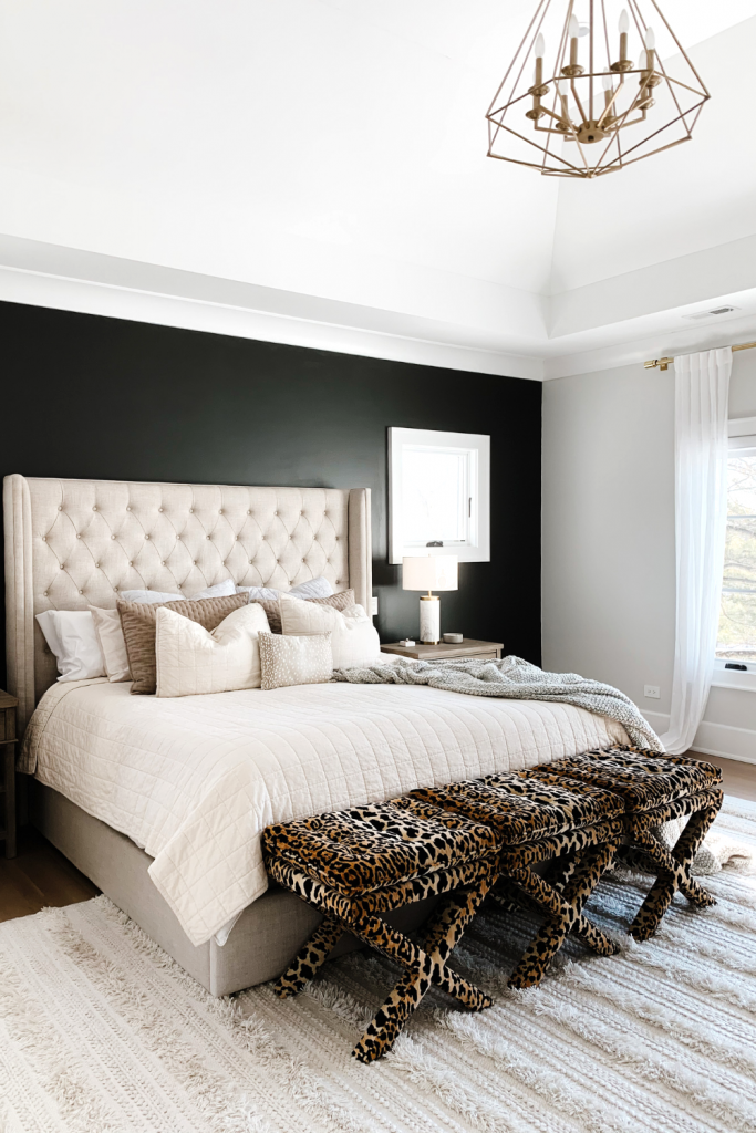 Master Bedroom Update Black Accent Wall My Kind Of Sweet In 2021 Black Accent Walls Master Bedroom Update Bedroom Updates