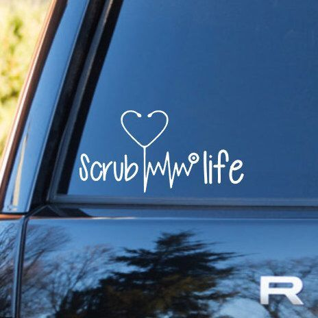 Scrub life nurse decal preppy decals nurse vinyl stethoscope vinyl decal