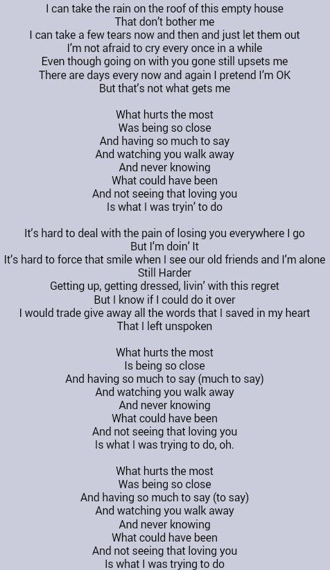 I want to be with you everywhere go lyrics