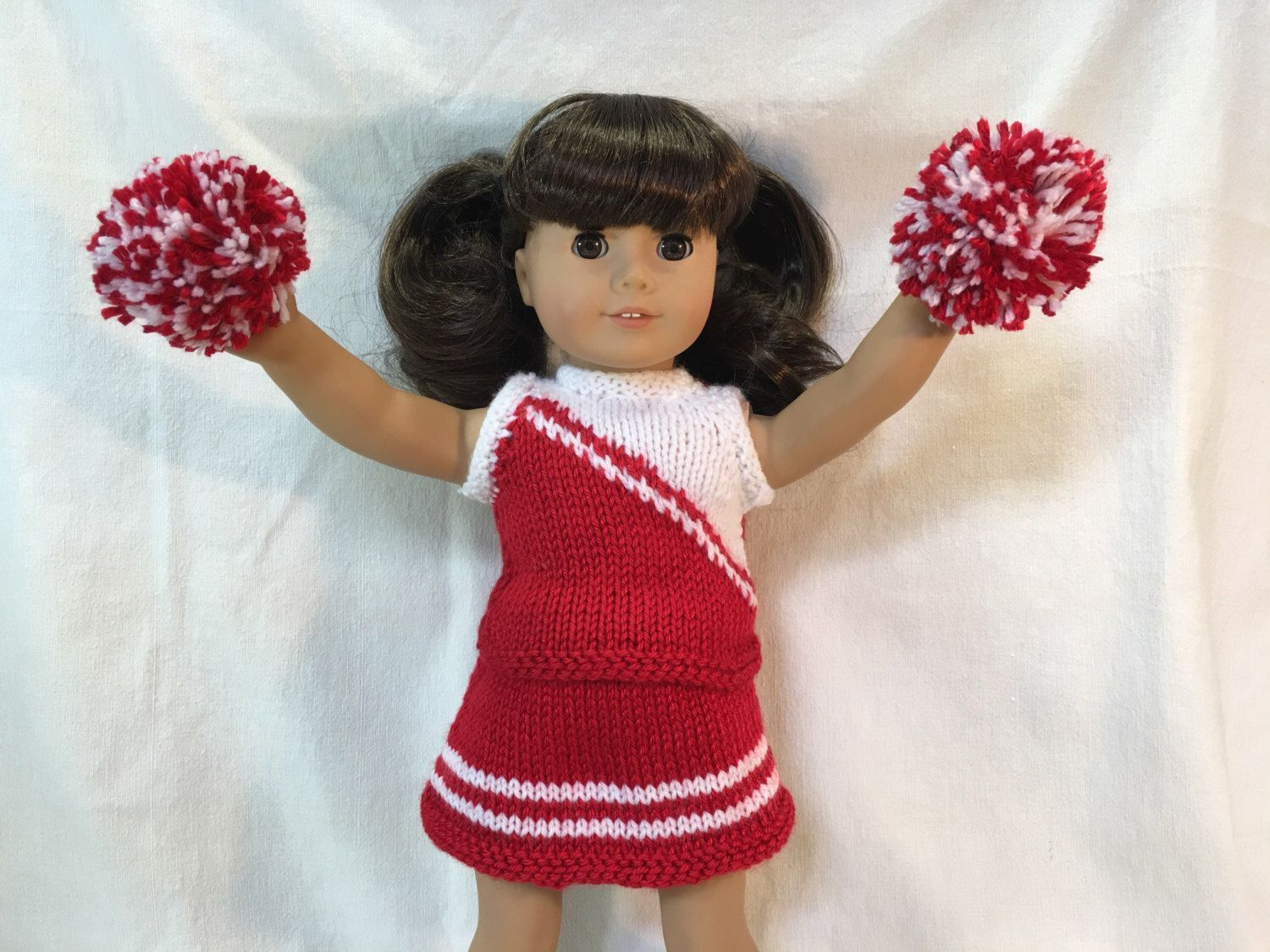 18 Inch Doll American Girl Cheerleading Outfit #18inchcheerleaderclothes Show your team or school pride with customizable colour options for cheerleading outfit with matching pom poms. Handmade to fit 18 inch dolls, similar to American Girl. Contact for customizing colours of outfit.  Please allow 2-3 weeks for completion. #18inchcheerleaderclothes 18 Inch Doll American Girl Cheerleading Outfit #18inchcheerleaderclothes Show your team or school pride with customizable colour options for cheerlea #18inchcheerleaderclothes