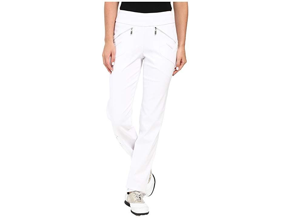 Jamie Sadock Skinnylicious 415 in Pant with Control Top Mesh Panel Pure White Womens Casual Pants Youll have so much confidence on the course in these fab Jamie Sadock pa...