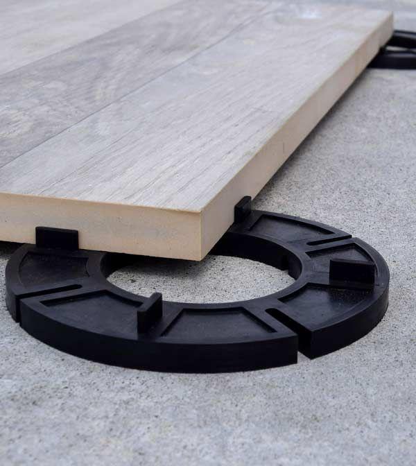Setting Up The Garden Pavers Over Concrete Deck Tiles Deck Flooring Diy Garden Decor