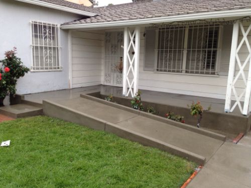 Concrete Wheelchair Ramp Concrete Wheelchair Ramps In