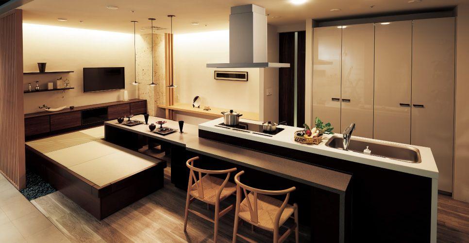 lクラス キッチン 型アイランドプラン イメージ写真から探す