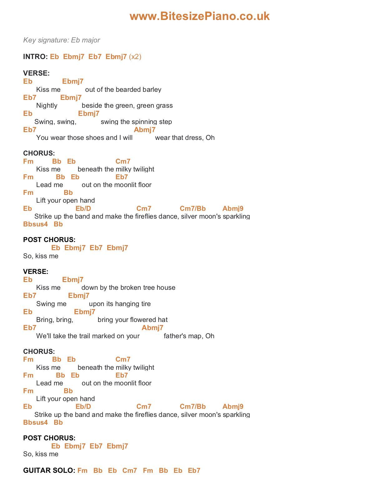 Pin on Bitesize Piano Chords & Lyrics
