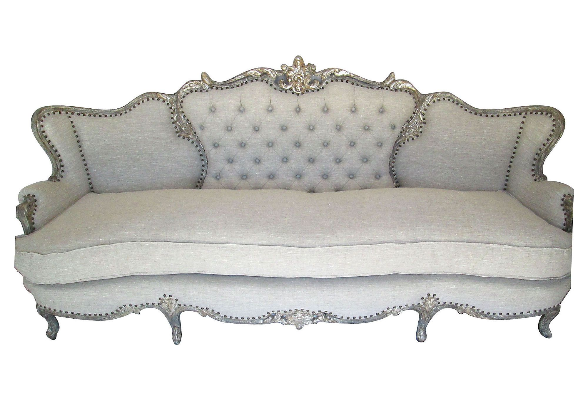 One Kings Lane Vmf Furniture 1930s French Sofa Windsor  # Muebles Long Lane