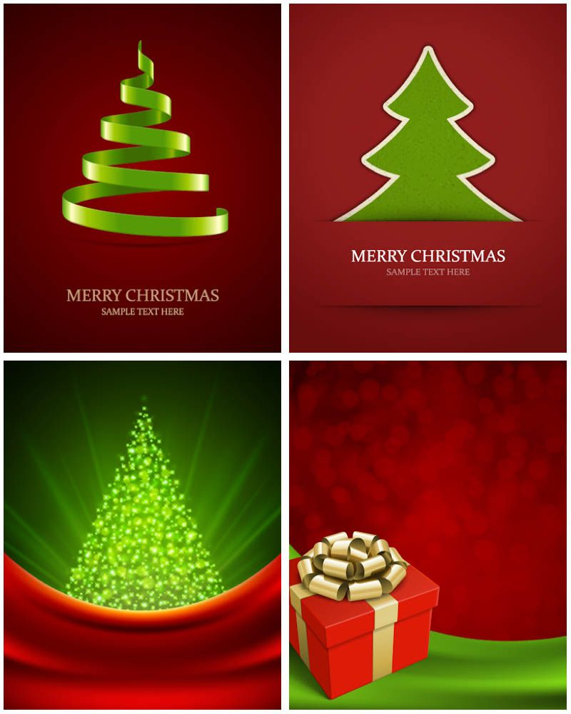 Awesome Modern Christmas Tree Backgrounds Vector. FREE DOWNLOAD