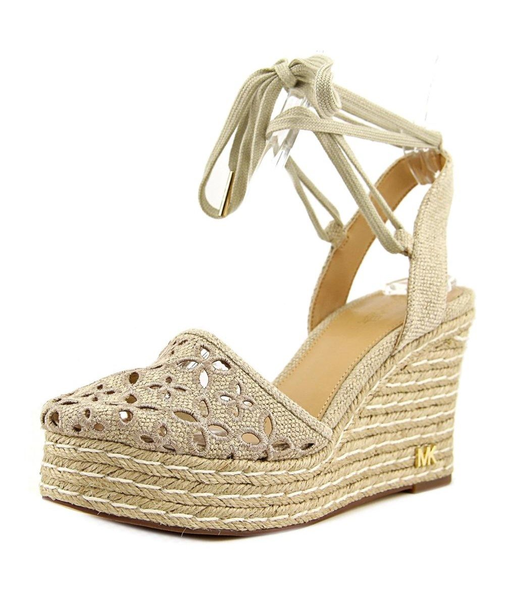 79854b3085a MICHAEL MICHAEL KORS Michael Michael Kors Darci Closed Toe Wedgoe Women  Canvas Tan Wedge Sandal .  michaelmichaelkors  shoes  pumps   high heels
