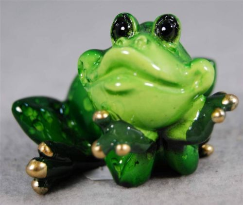 Whimsical Meditating Green Frog in Thinking Stretching Pose Figurine 61167A New | eBay