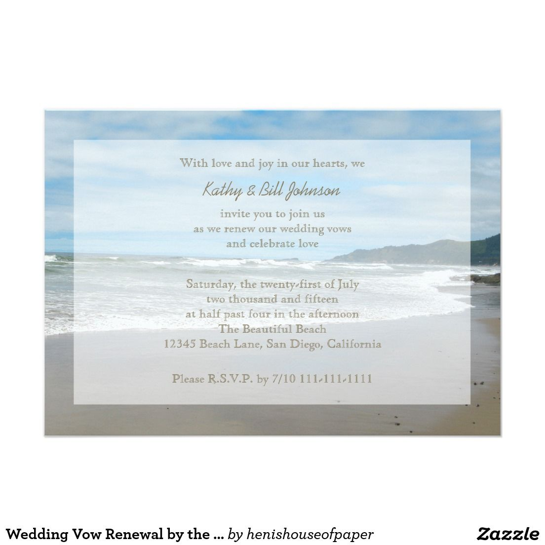 Wedding Vow Renewal By The Beach