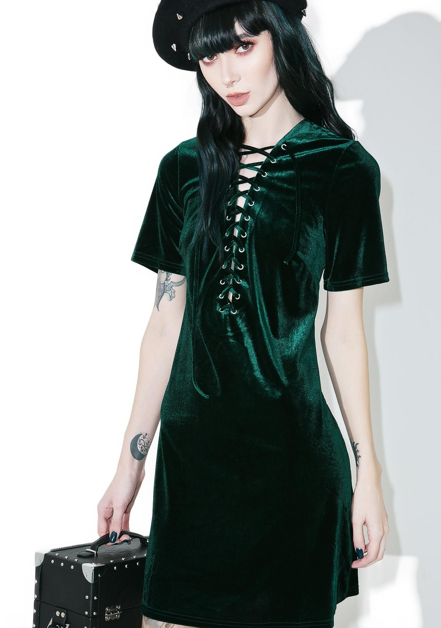 Green lace up dress  Glamorous Sage Velvet LaceUp Dress ya look perfectly peaceful