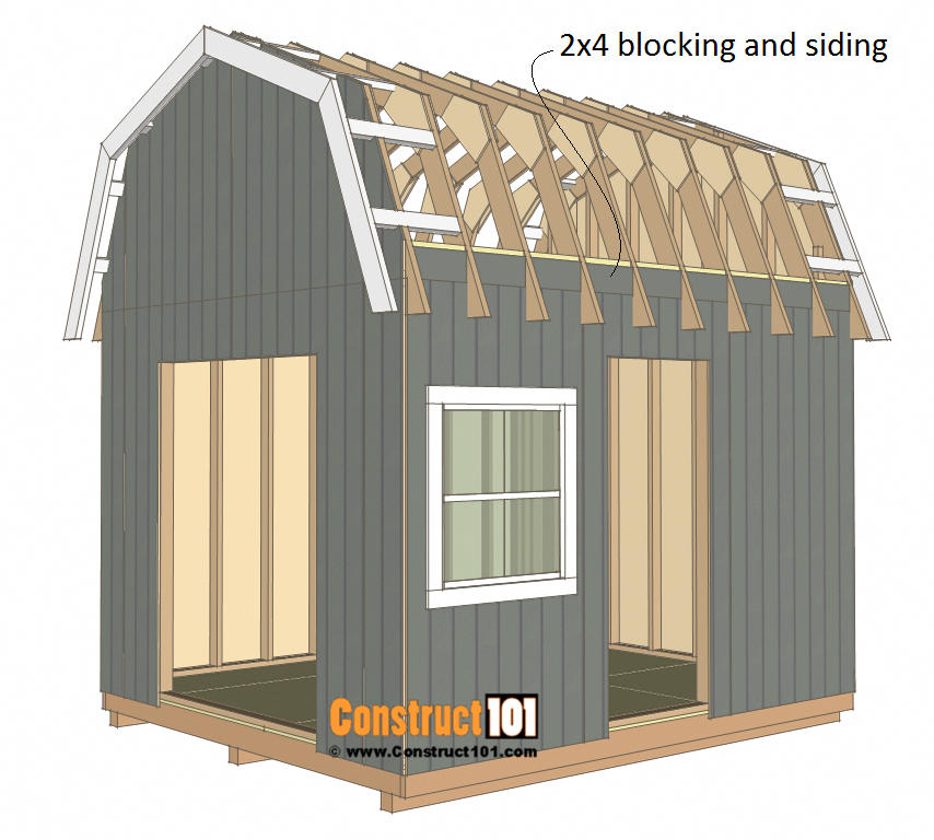10x12 Barn Shed Plans Construct101 Barns Sheds Shed Plans Building A Shed