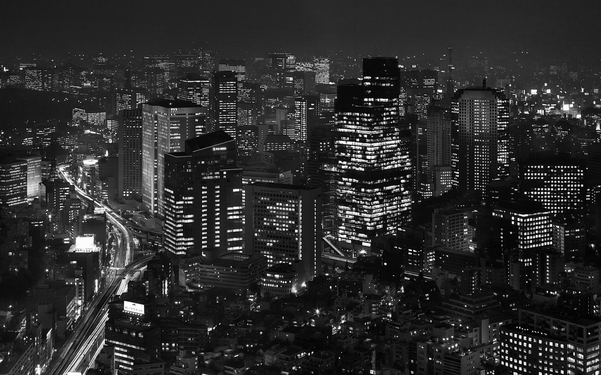 Tokyo Background Black And White Black And White City Landscape Wallpaper Black And White