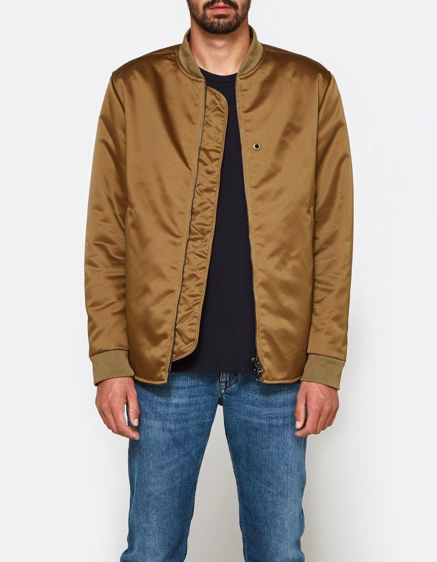 9b0c8b4af Acne Studios / Mylon Matt Jacket in Acorn Green   Bomer jackets ...