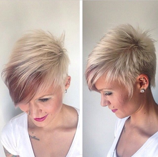 Pixie Love The Color In The Front Short Hair Styles Hair Styles Short Hair Styles Pixie