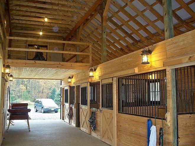 Jarrettsville Md Center Aisle With Partial Loft 0 Barn
