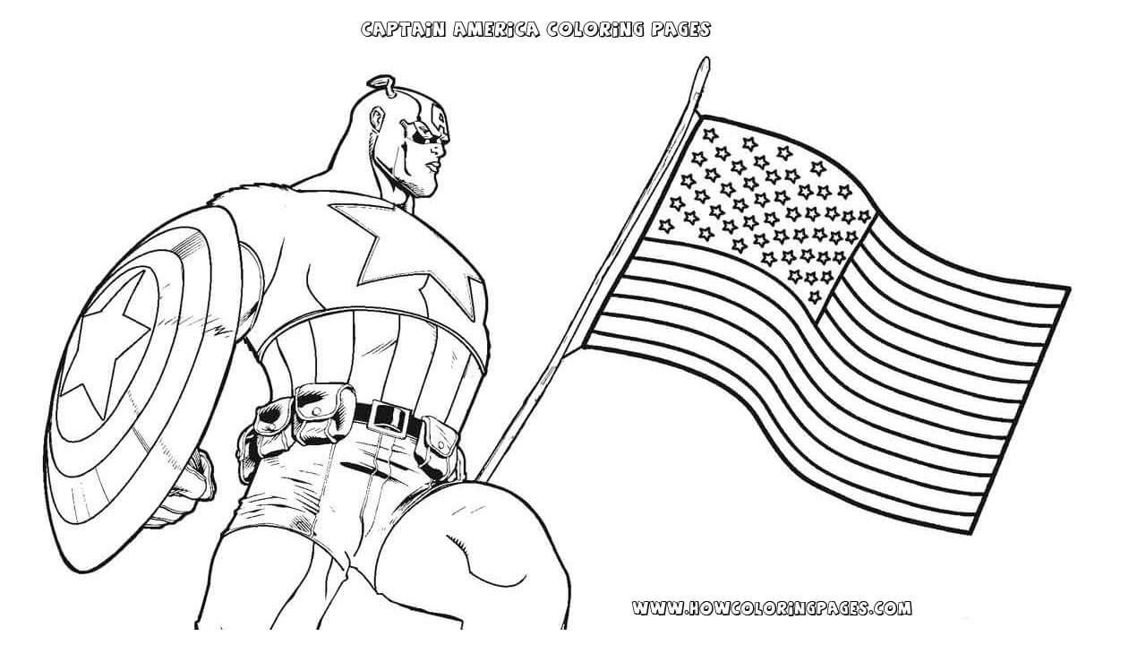 Printable Captain America Coloring Pages For Kids Sports
