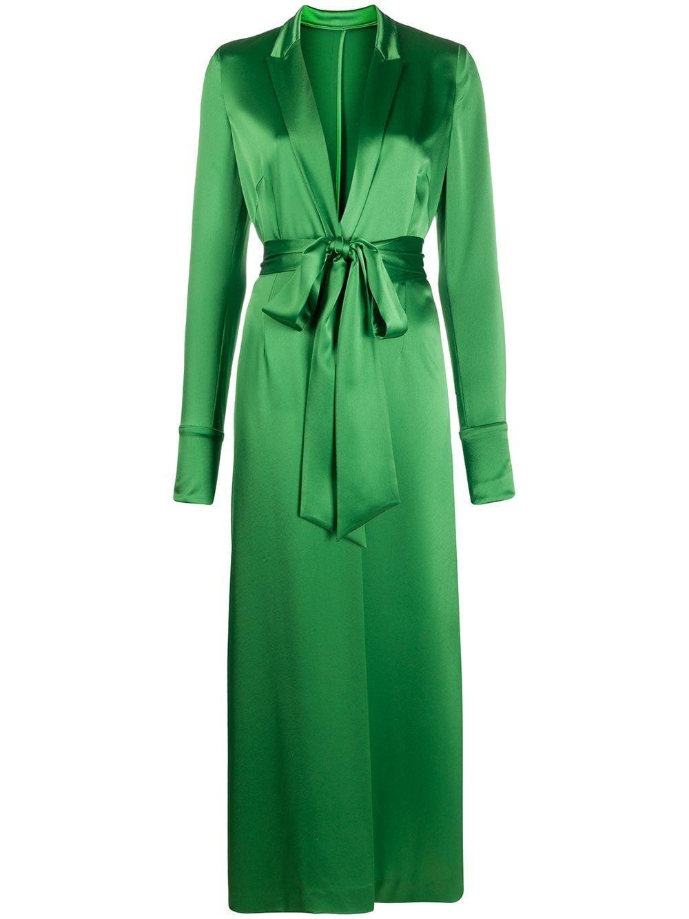 Galvan Callisto Wrap Midi Dress Farfetch Midi Dress Green Midi Dress Midi Dress With Sleeves [ 1334 x 1000 Pixel ]