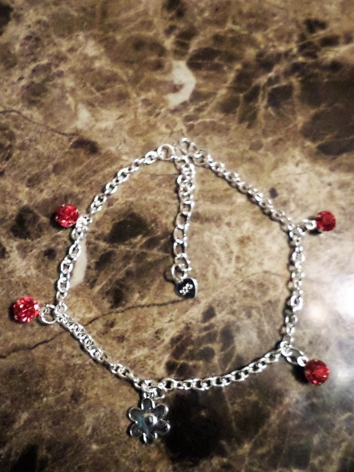 inch to ankle beads with faceted bracelet anklet sterling silver bracelets link