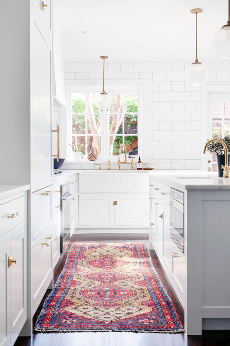 Modern Kitchen Rugs my favorite kitchens of 2015 | persian, kitchens and vintage