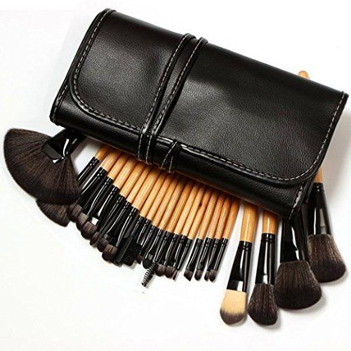 KLAREN Professional 24 Piece All Natural Real Hair Makeup... | Makeup brush  case, Makeup brush set, Makeup brush set professional