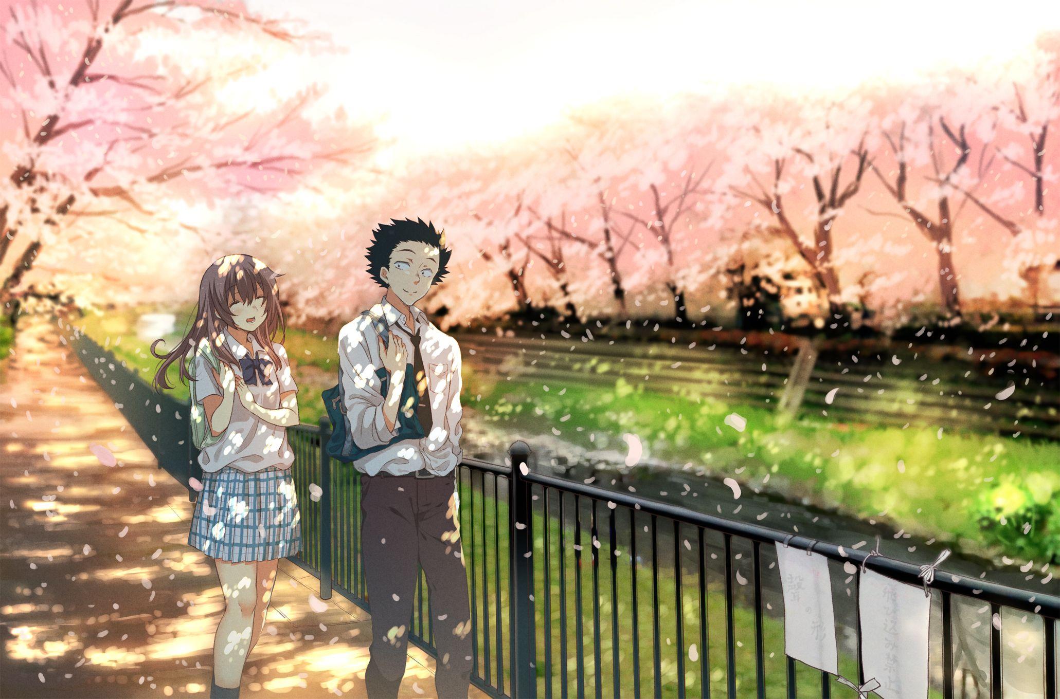 """Ishida Shouya"" ""Nishimiya Shouko"" 壁紙 イラスト, 壁紙, イラスト画像"