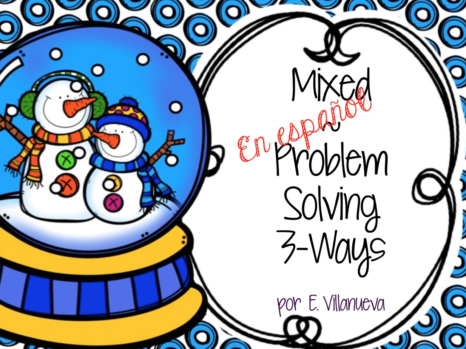 Bilingual Spanish Amp English Winter Math Problem Solving