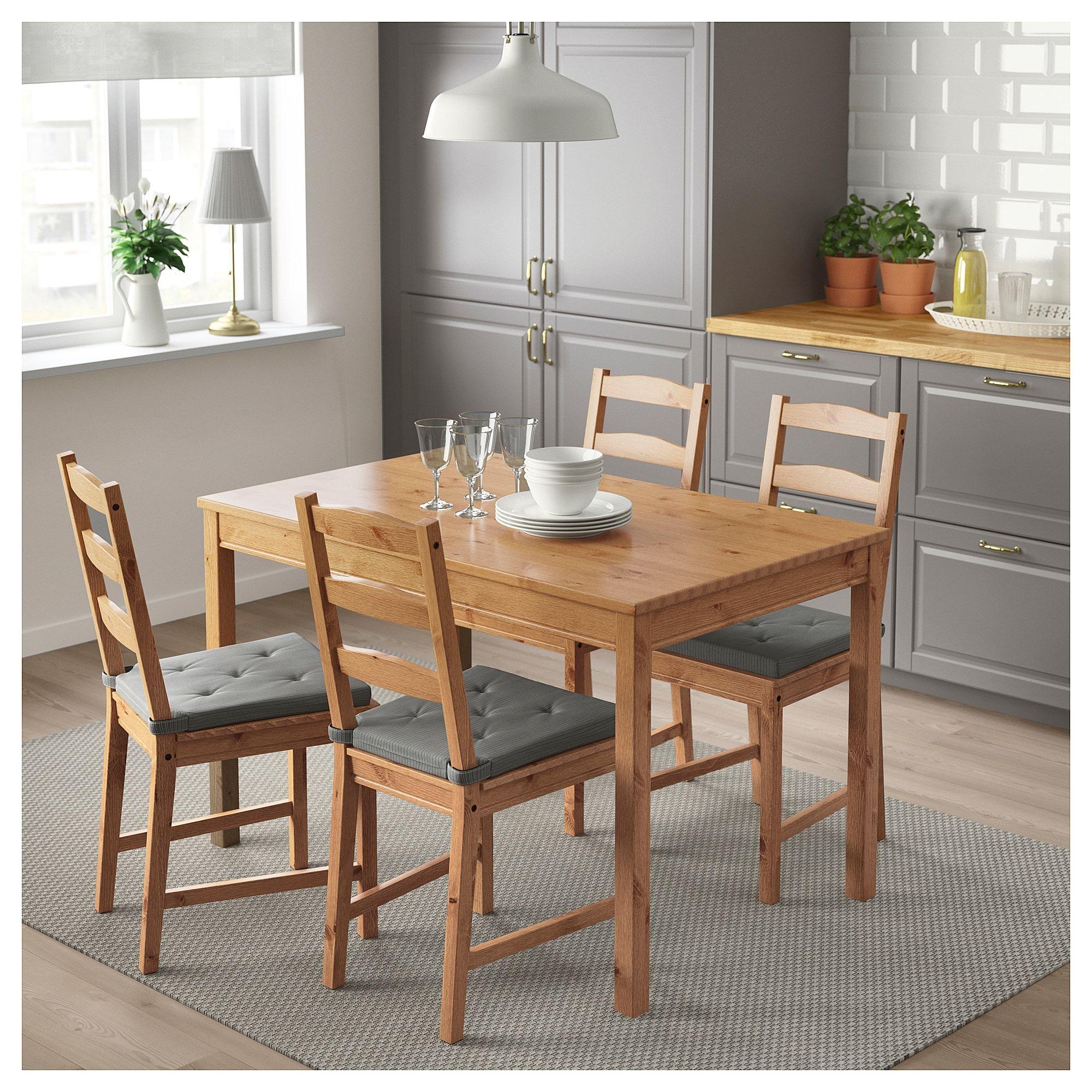 Jokkmokk Table And 4 Chairs Antique Stain Ikea Small Dining Antique Stain Jokkmokk