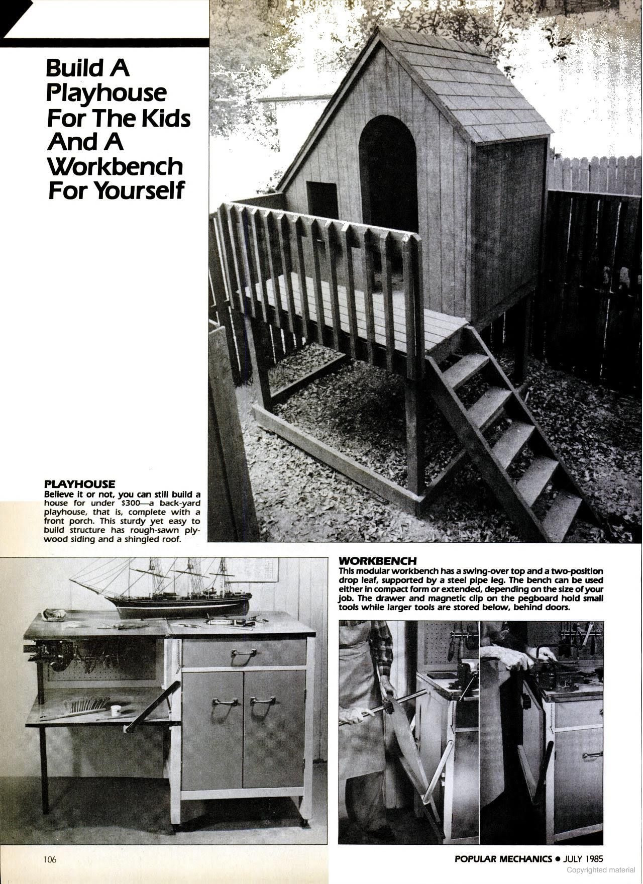 Popular Mechanics Play Houses Build A Playhouse Popular Mechanics