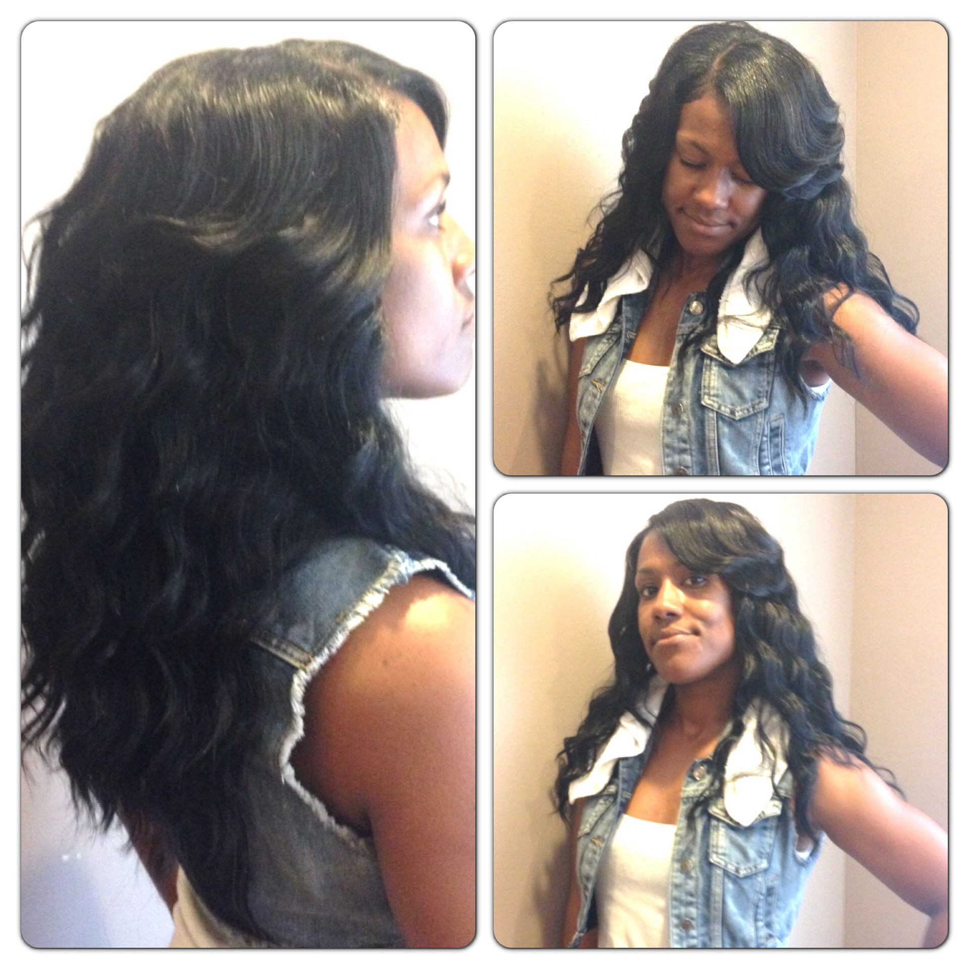Long wavy quick weave  Quick weave hairstyles, Long weave