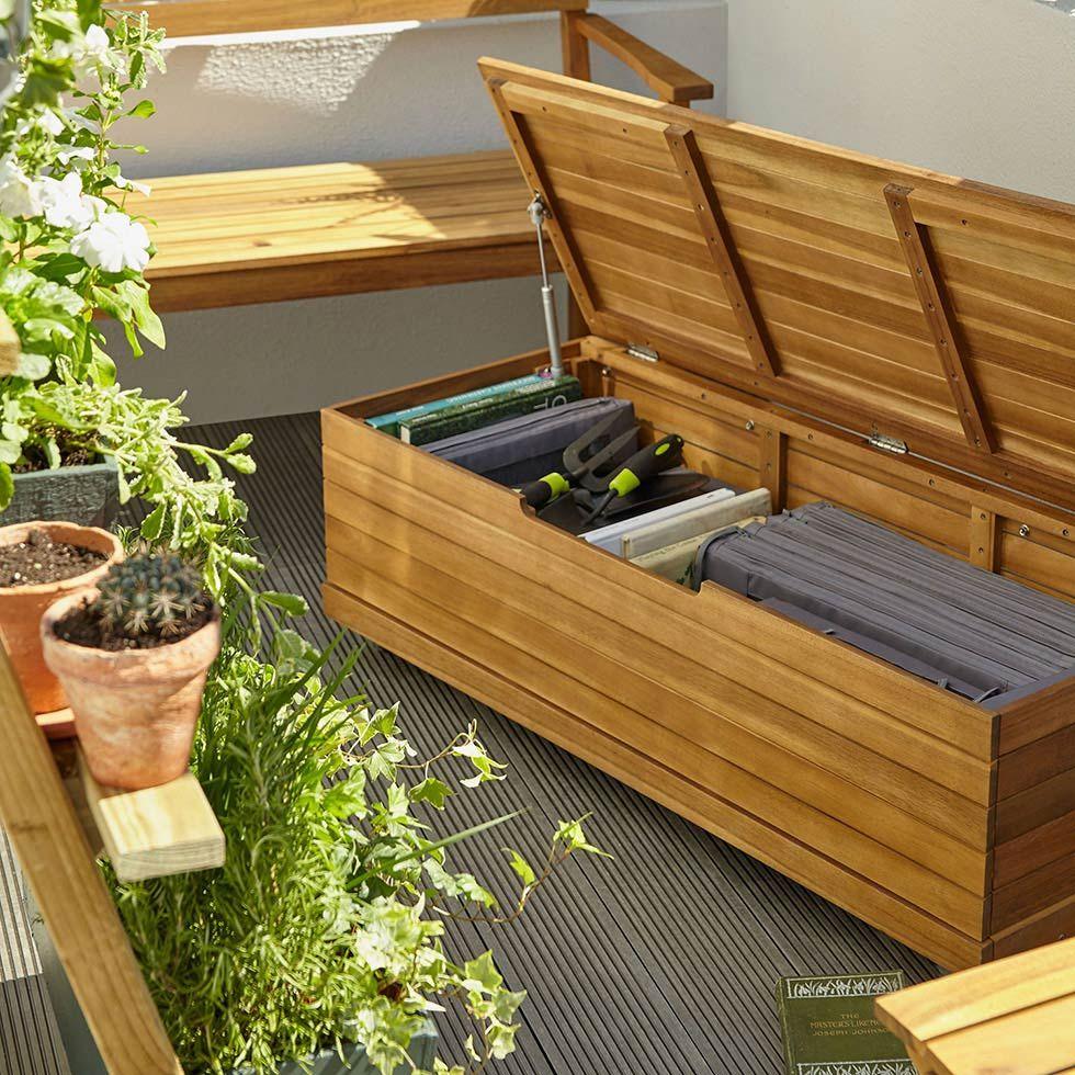 Jardin Des Idees Pour Amenager Un Balcon Castorama Coffre De Jardin Idee De Decoration Deco Maison