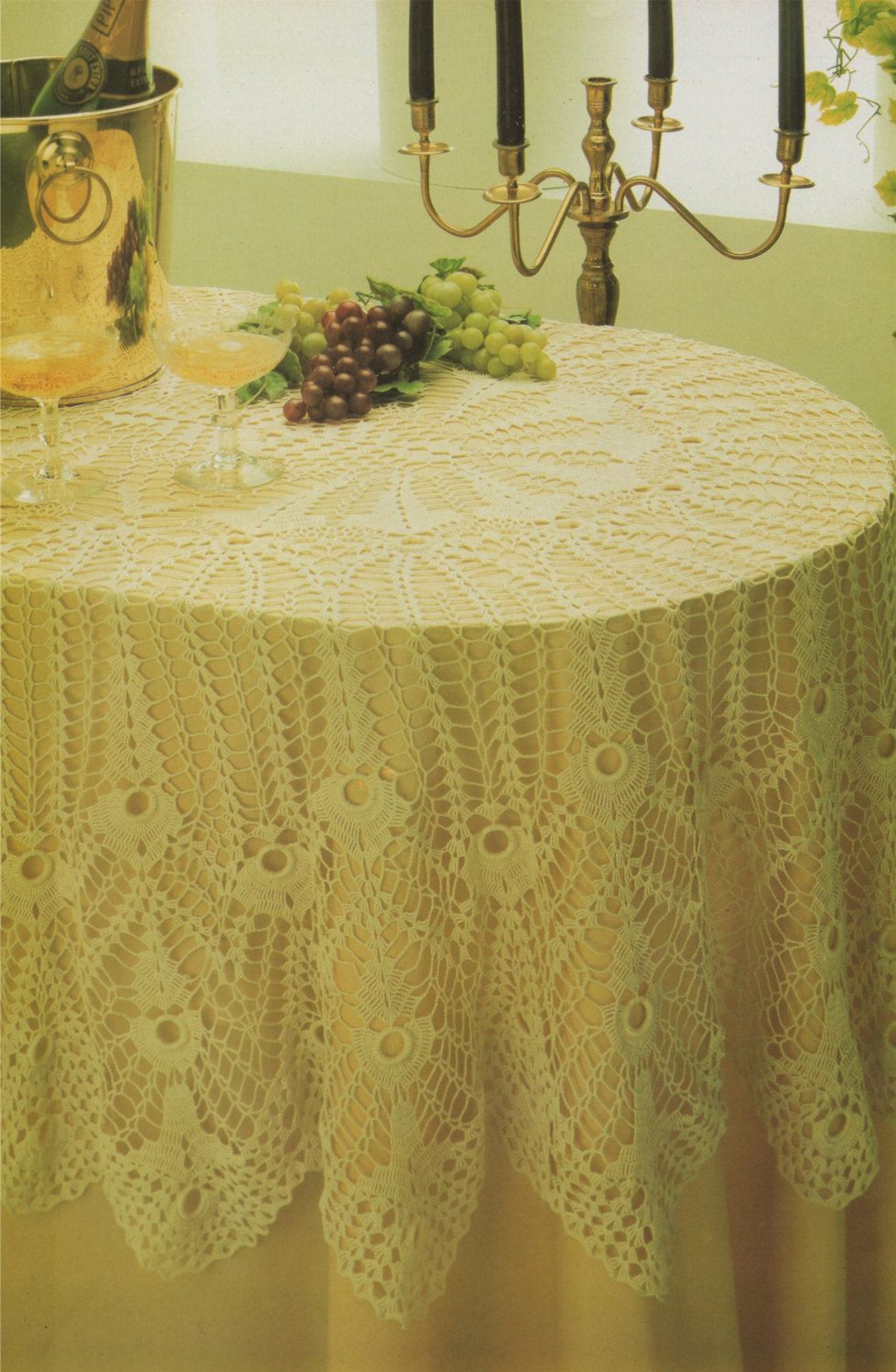 Oval Tablecloth PDF Crochet Pattern : Table Cloth . Table Cover ...