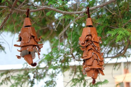 Pinecones from egg cartons // cute!