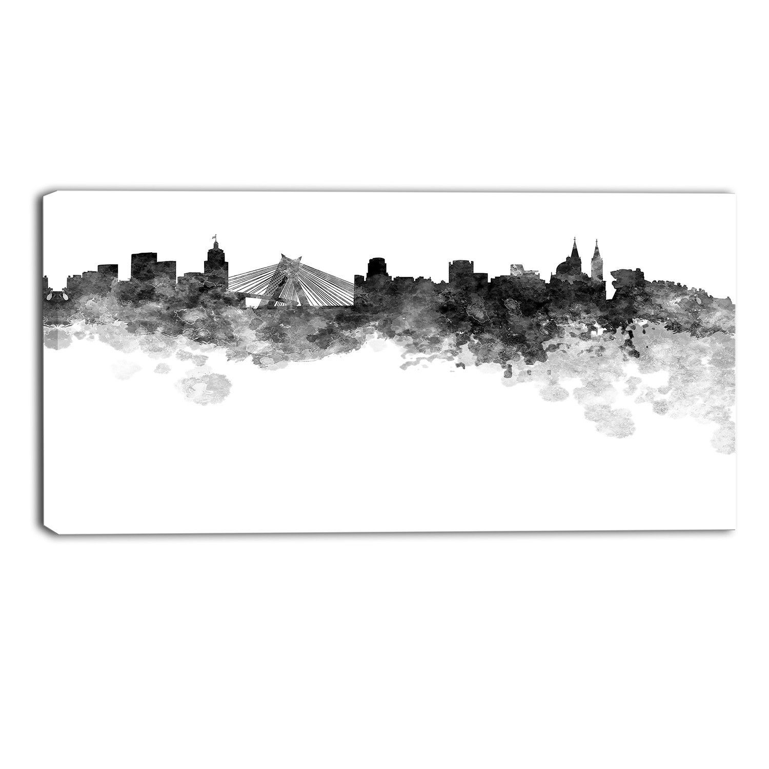 Sao Paulo Skyline Cityscape Graphic Art on Wrapped Canvas