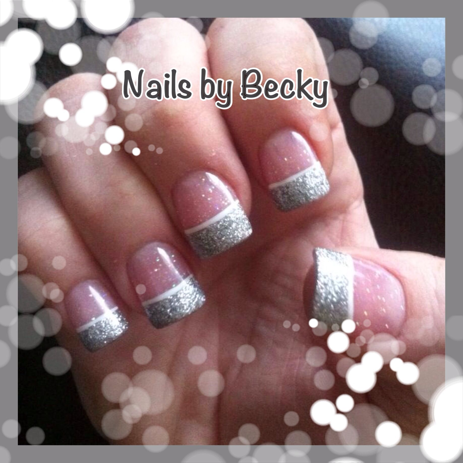 Silver acrylic nails uñas pinterest silver acrylic nails