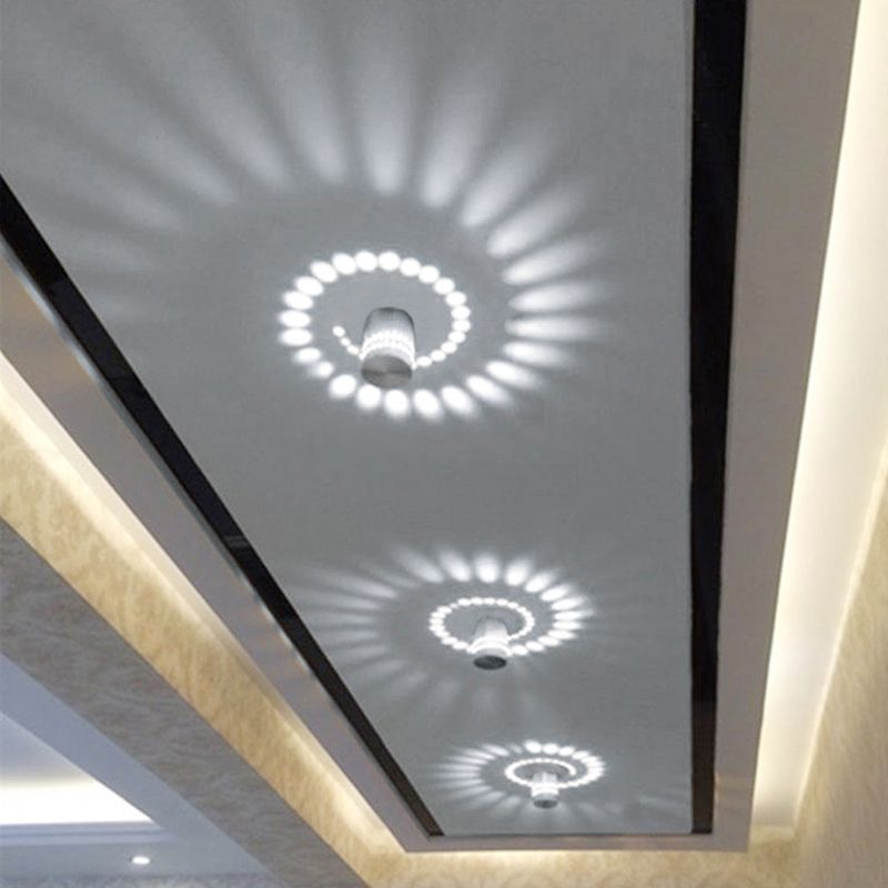 Led Lamps Lights & Lighting Led Wall Lamp Rgb Aluminum Spiral Hole 3w Dimmable Remote Control Modern Bedroom Bar Ktv Minimalist Decoration Corridor Lights With Traditional Methods