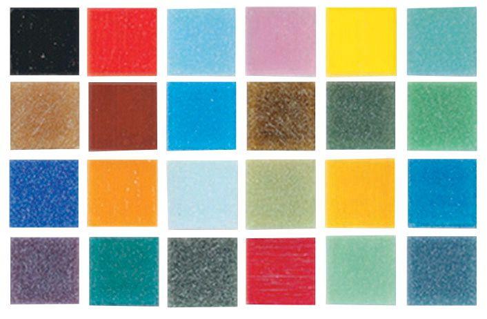 Black 3//8 Inch 1 Pound Bag Mosaic Mercantile Authentic Glass Mosaic Tiles