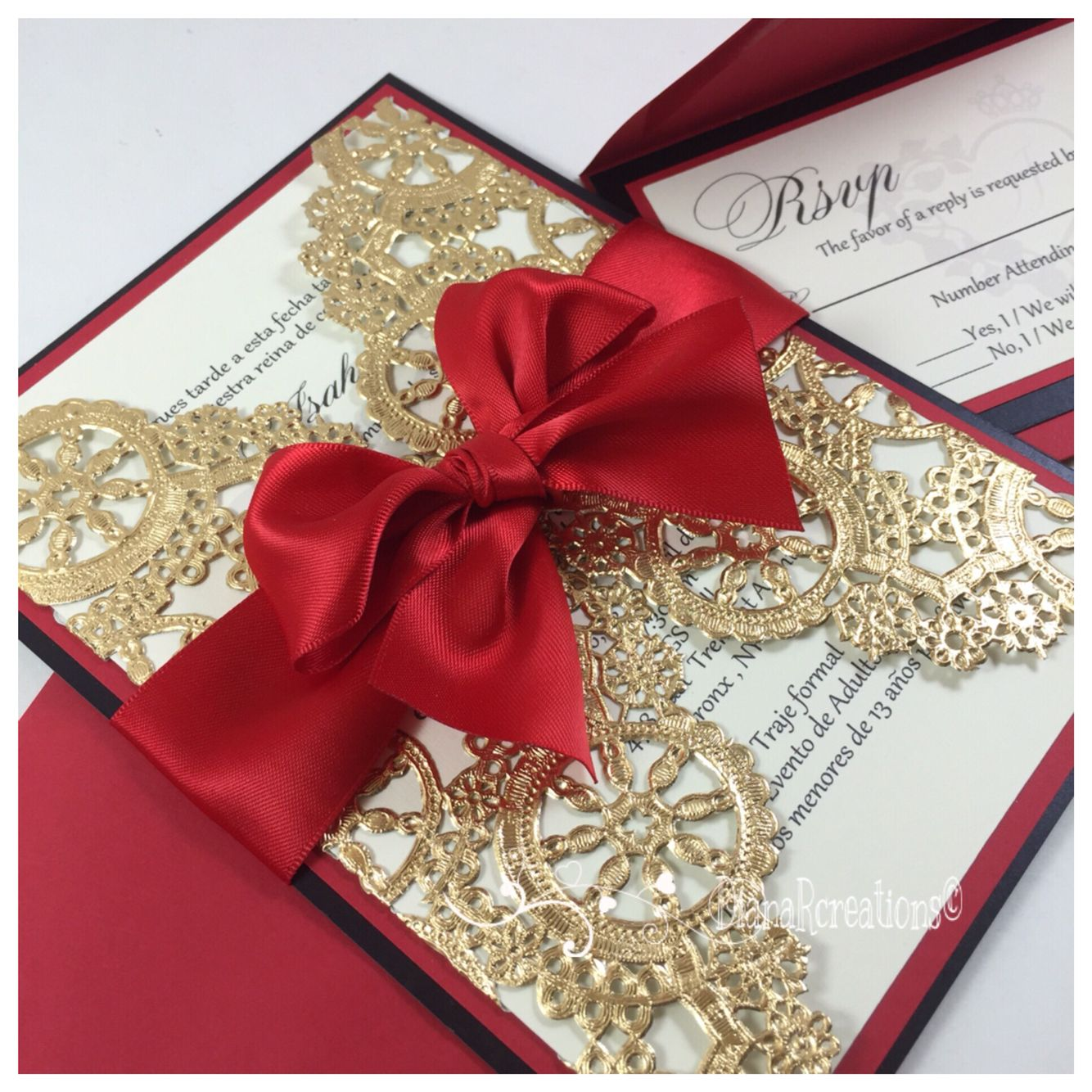Queens of Heart Sweet Sixteen Invitations