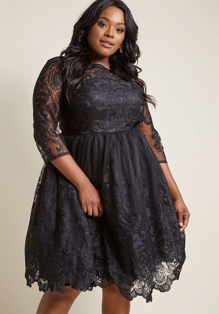 Plus Size Vintage Style Lace Dress In Black Lace Dress Black Dresses 1950s Cocktail Dress [ 1097 x 768 Pixel ]