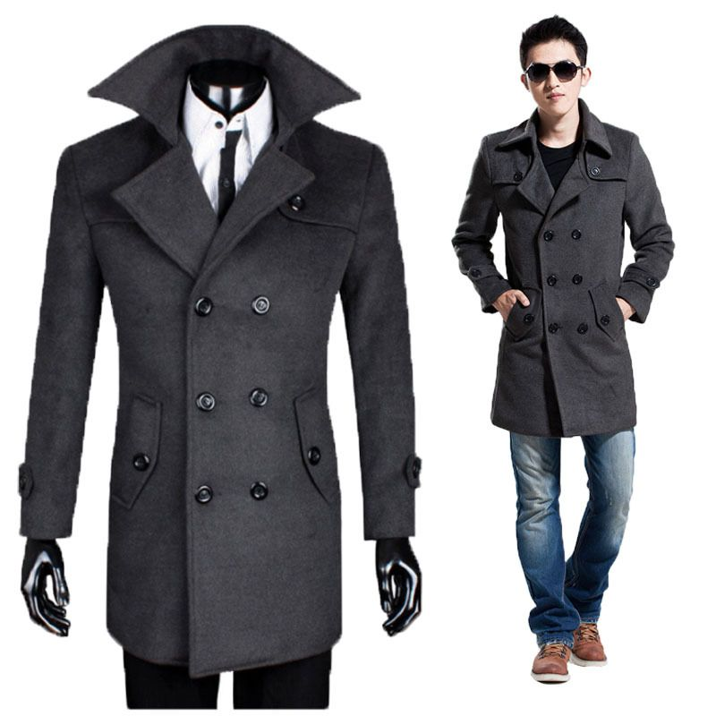 Mens Long Wool Winter Coats - JacketIn