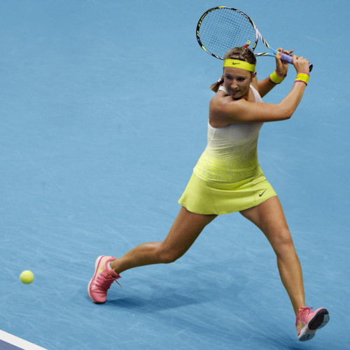 Victoria Azarenka Australian Open 2015 Nike outfit - Nike Advantage Printed  Tank and Victory Printed Skirt