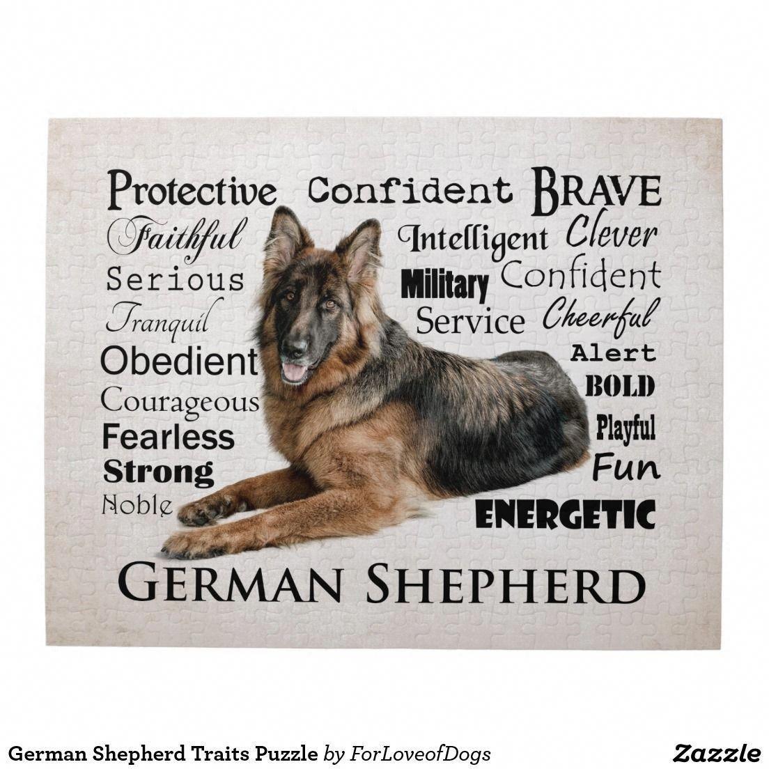 German Shepherd Traits Puzzle Zazzle Com German Shepherd
