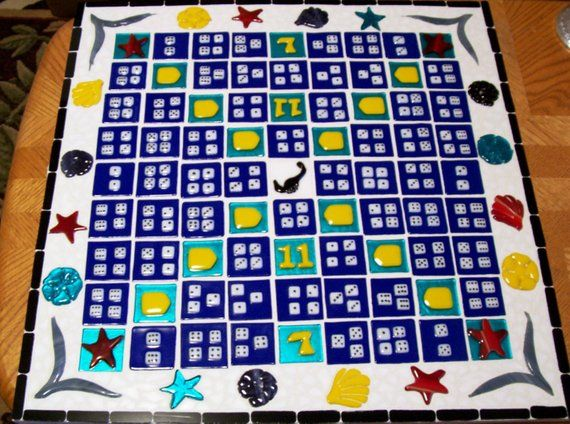Game Boards, Mosaic, Game Board, Stained Glass And Fused Glass Game Board, Custom Game Boards, Games