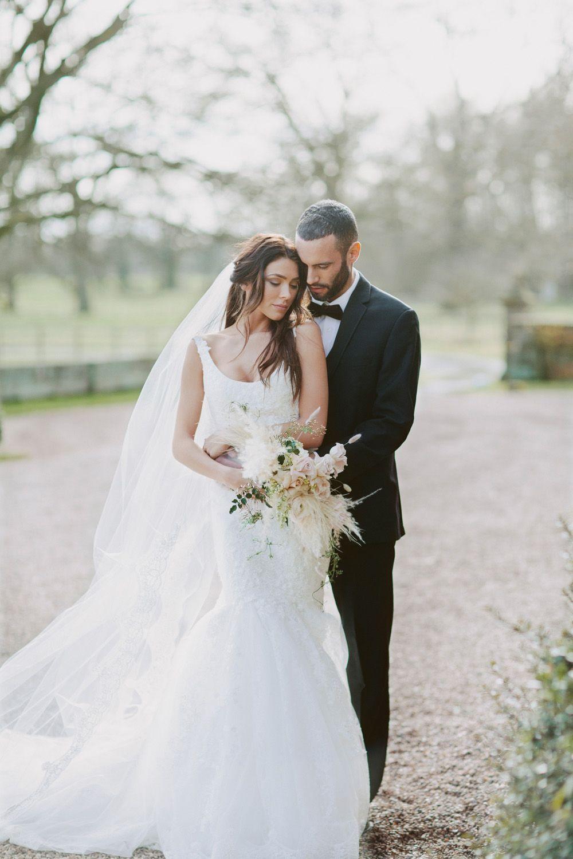 Rose colored wedding dress  Rose Noire Bridalwear Editorial  Elegant bride Blush pink weddings