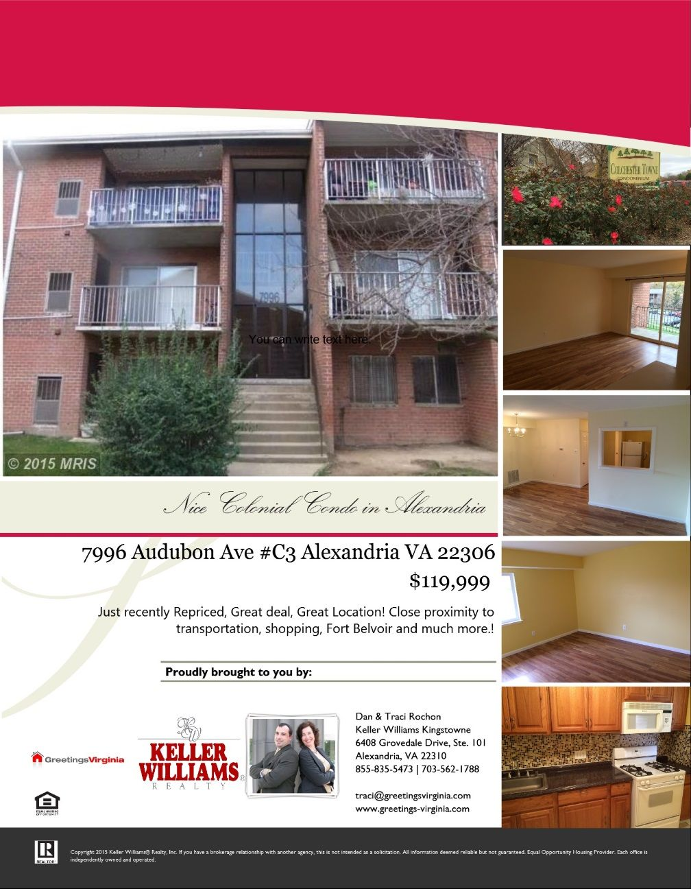 Just recently repriced great deal great location close