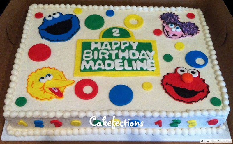Images Of Sesame Street Elmo Cookie Monster Edible Birthday Cake