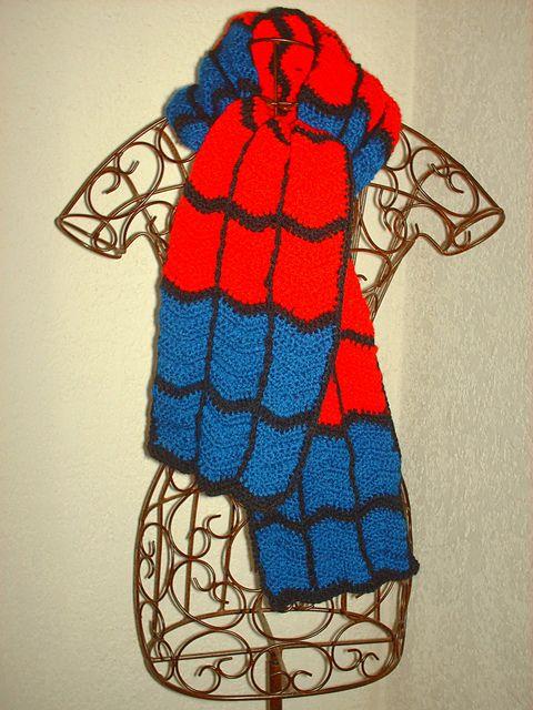 Ravelry: devilgaby's spiderman scarf